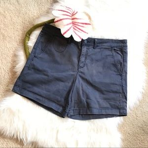 CHINO by Anthropologie Relaxed Navy Cotton Shorts